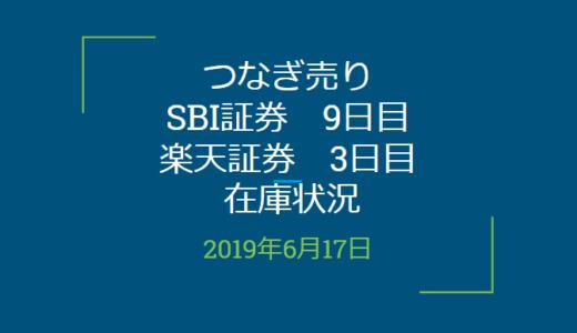 【つなぎ売り】SBI証券9日目、楽天証券3日目在庫状況&クロス状況(優待クロス)