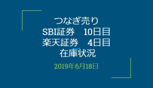 【つなぎ売り】SBI証券10日目、楽天証券4日目在庫状況&クロス状況(優待クロス)
