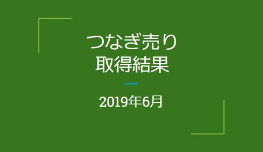 2019年6月つなぎ売りの結果(優待クロス取引)