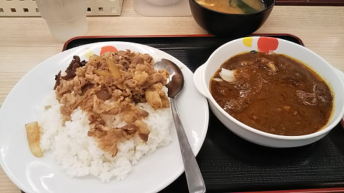 【4日連続】松屋の株主優待を使って、創業カレー牛を食べてきました。