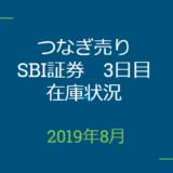 2019年8月つなぎ売り、SBI証券3日目在庫状況&クロス状況(優待クロス)