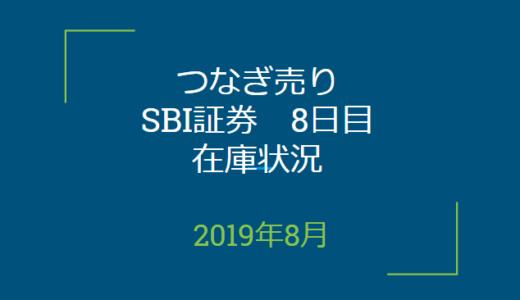 2019年8月つなぎ売り、SBI証券8日目在庫状況&クロス状況(優待クロス)