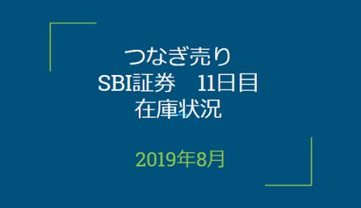 2019年8月つなぎ売り、SBI証券11日目在庫状況&クロス状況(優待クロス)