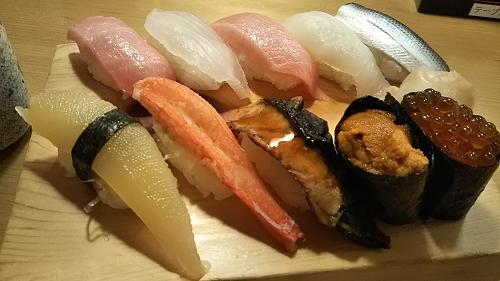 ヨシックスの株主優待で、や台寿司でお寿司を食べてきました