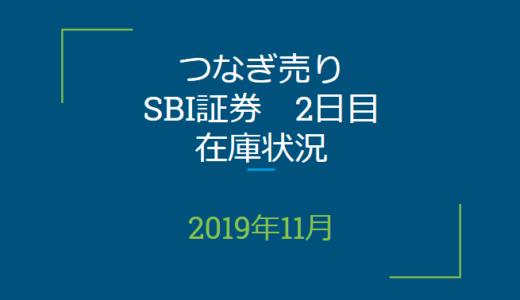 2019年11月つなぎ売り、SBI証券2日目在庫状況&クロス状況(優待クロス)