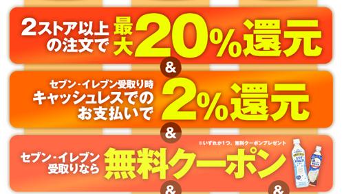 7ネットショップで20%還元キャンペーン!最大45%還元も!