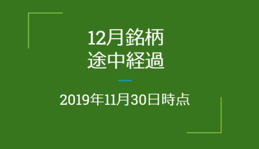 2019年12月つなぎ売り、途中経過(11月30日時点)クロス取引