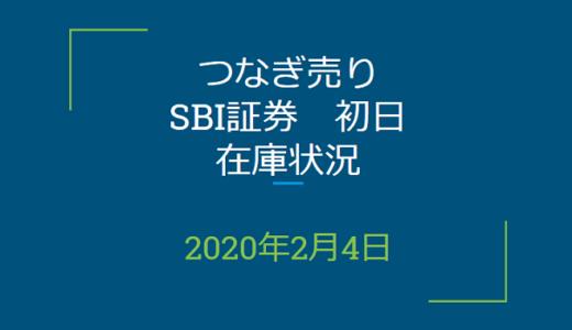 2020年2月一般信用の売り在庫状況 SBI証券初日(優待クロス取引)