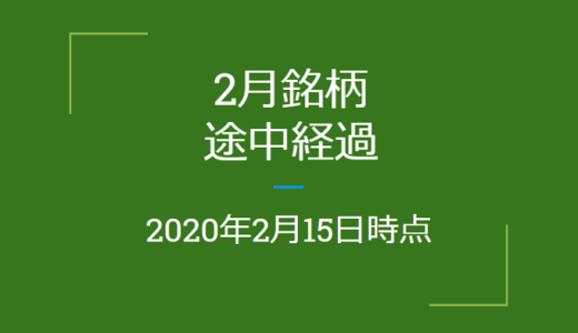 2020年2月つなぎ売り、途中経過(2月15日時点)クロス取引