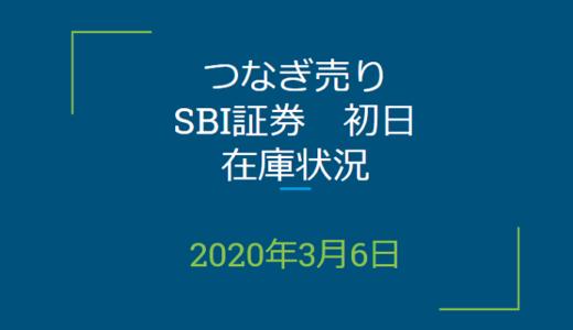 2020年3月一般信用の売り在庫状況 SBI証券初日(優待クロス取引)