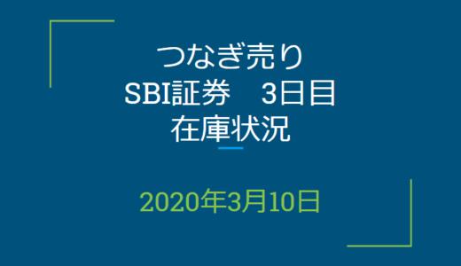 2020年3月一般信用の売り在庫状況 SBI証券3日目(優待クロス取引)