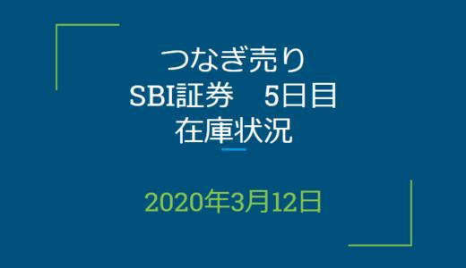 2020年3月一般信用の売り在庫状況 SBI証券5日目(優待クロス取引)