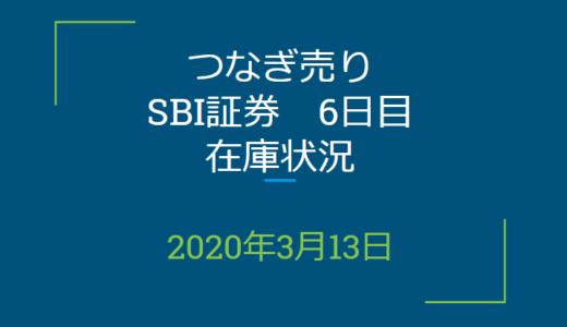 2020年3月一般信用の売り在庫状況 SBI証券6日目(優待クロス取引)