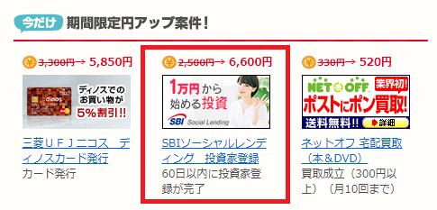 【復活!】SBIソーシャルレンディングへの登録だけで6,600円相当が貰える!