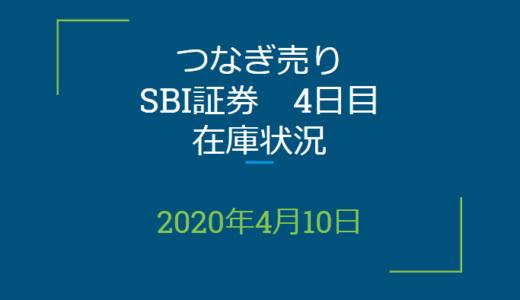 2020年4月一般信用の売り在庫状況 SBI証券4日目(優待クロス取引)