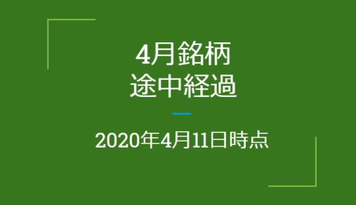 2020年月4月つなぎ売り、途中経過(4月11日時点)クロス取引