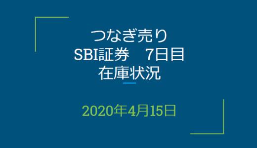 2020年4月一般信用の売り在庫状況 SBI証券7日目(優待クロス取引)