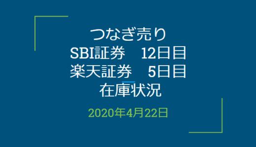 2020年4月一般信用の売り在庫状況 SBI証券12日目、楽天証券5日目(優待クロス取引)