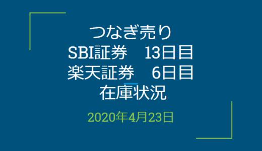 2020年4月一般信用の売り在庫状況 SBI証券13日目、楽天証券6日目(優待クロス取引)