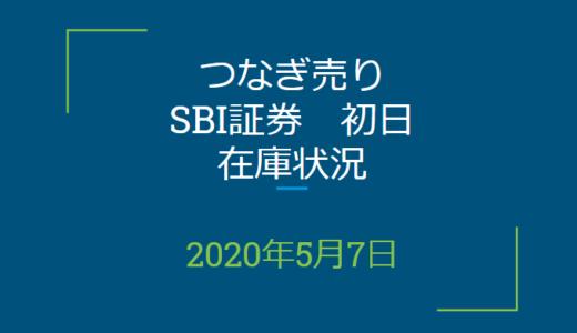 2020年5月一般信用の売り在庫状況 SBI証券初日(優待クロス取引)