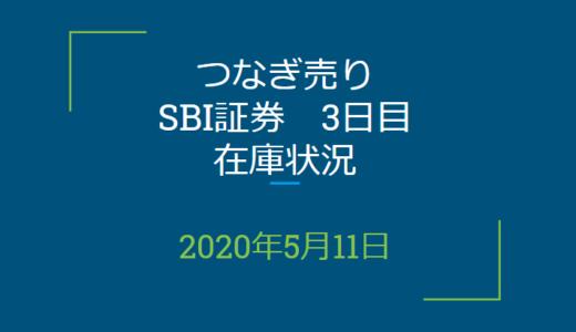 2020年5月一般信用の売り在庫状況 SBI証券3日目(優待クロス取引)