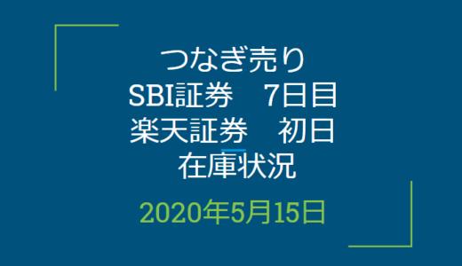 2020年5月一般信用の売り在庫状況 SBI証券7日目、楽天証券初日(優待クロス取引)