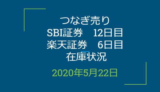 2020年5月一般信用の売り在庫状況 SBI証券12日目、楽天証券6日目(優待クロス取引)