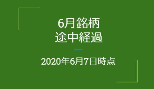2020年月6月つなぎ売り、途中経過(6月7日時点)クロス取引
