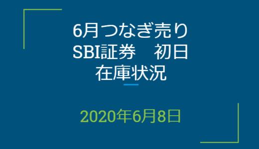 2020年6月一般信用の売り在庫状況 SBI証券初日(優待クロス取引)