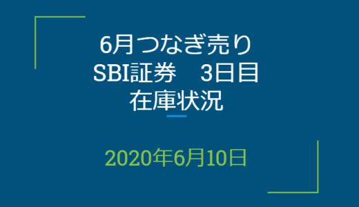 2020年6月一般信用の売り在庫状況 SBI証券3日目(優待クロス取引)