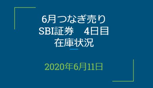 2020年6月一般信用の売り在庫状況 SBI証券4日目(優待クロス取引)