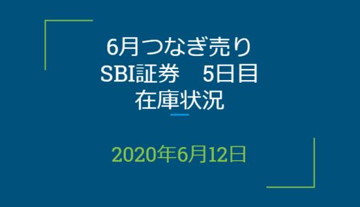 2020年6月一般信用の売り在庫状況 SBI証券5日目(優待クロス取引)