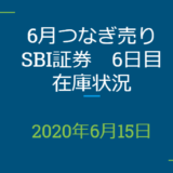2020年6月一般信用の売り在庫状況 SBI証券6日目(優待クロス取引)