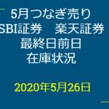 2020年6月一般信用の売り在庫状況 SBI証券13日目、楽天証券7日目(優待クロス取引)