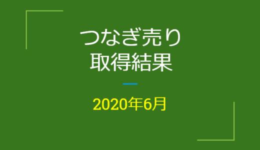 2020年6月つなぎ売り、取得結果【優待クロス】