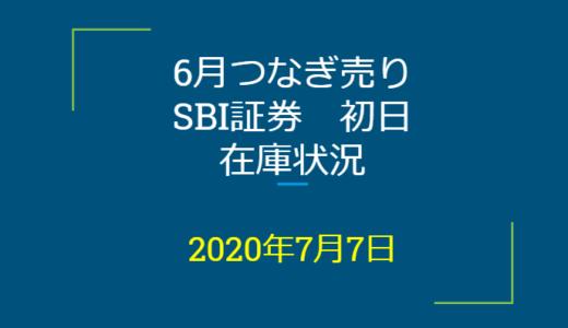 2020年7月一般信用の売り在庫状況 SBI証券初日(優待クロス取引)