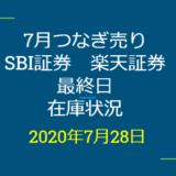 2020年7月一般信用の売り在庫状況 SBI証券、楽天証券最終日(優待クロス取引)
