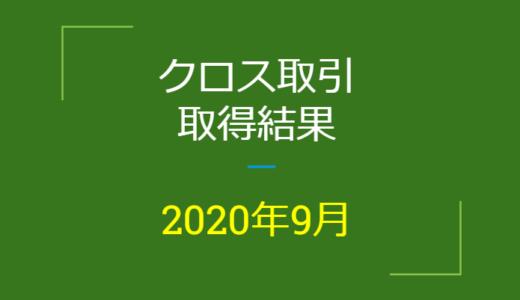 2020年9月つなぎ売り、取得結果【優待クロス取引】
