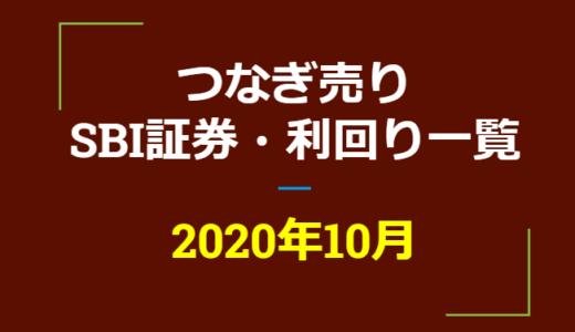 2020年11月つなぎ売り、SBI証券の株主優待利回り一覧【クロス取引】