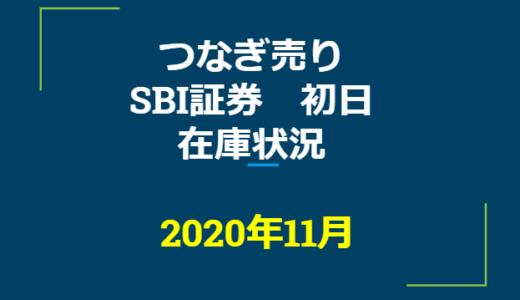 2020年11月一般信用の売り在庫状況 SBI証券初日(優待クロス取引)