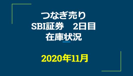 2020年11月一般信用の売り在庫状況 SBI証券2日目(優待クロス取引)
