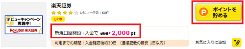 【キャンペーン】楽天証券の口座開設&入金で2,000円相当!