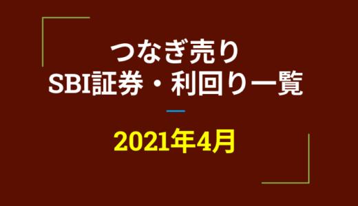 2021年4月つなぎ売り、SBI証券の株主優待利回り一覧【クロス取引】