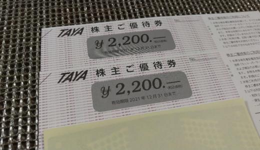 【3月、9月銘柄】田谷から自社商品券の株主優待が届きました
