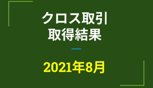 2021年8月つなぎ売り、取得結果【優待クロス取引】